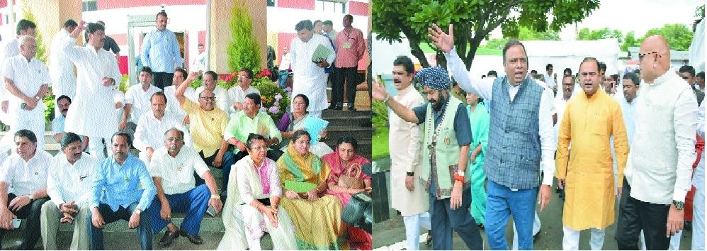Heavy sloganeering in premises on 2nd day