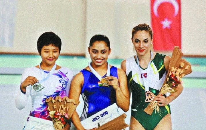 History as Dipa wins gold in Turkey meet