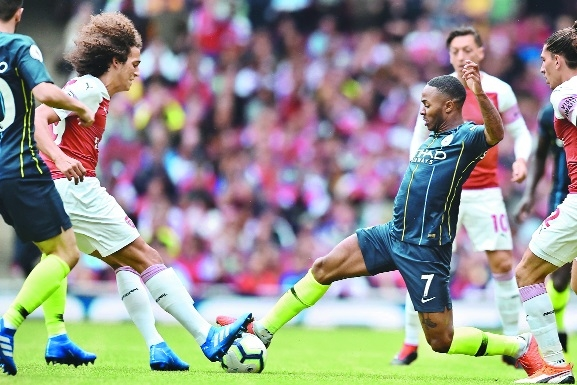 Man City fire two past Gunners
