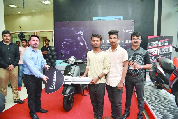 Special edition scooter Vespa Notte 125cc launched at Vespa Nagpur