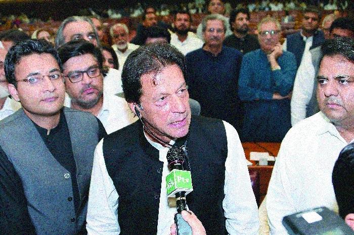 Imran Khan elected as new Pak PM