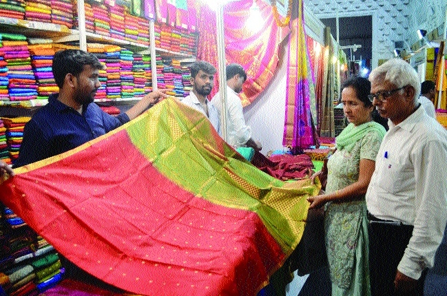 Tassar, Kanjeevaram silk sarees attract buyers