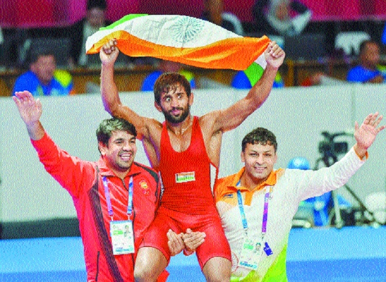 Bajrang clinches first gold for India