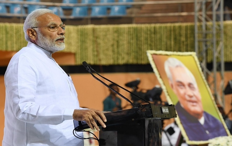 Vajpayee never buckled under pressure: Modi