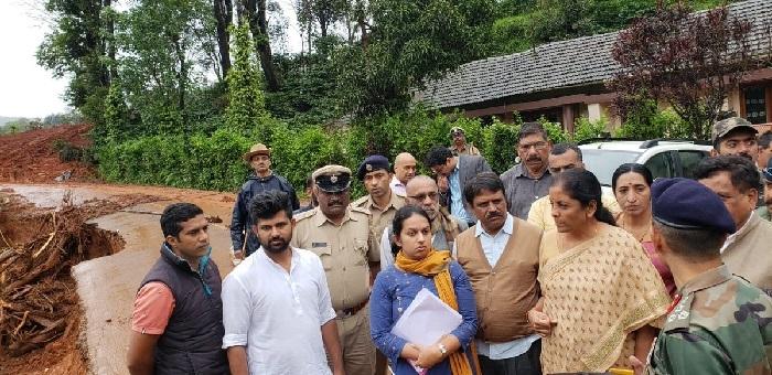 Nirmala visits Kodagu, promises Army help