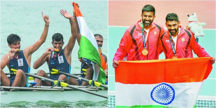 Indian rowers, tennis pair claim gold medals