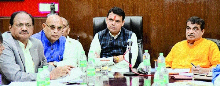 Fadnavis, Gadkari review various pending development projects