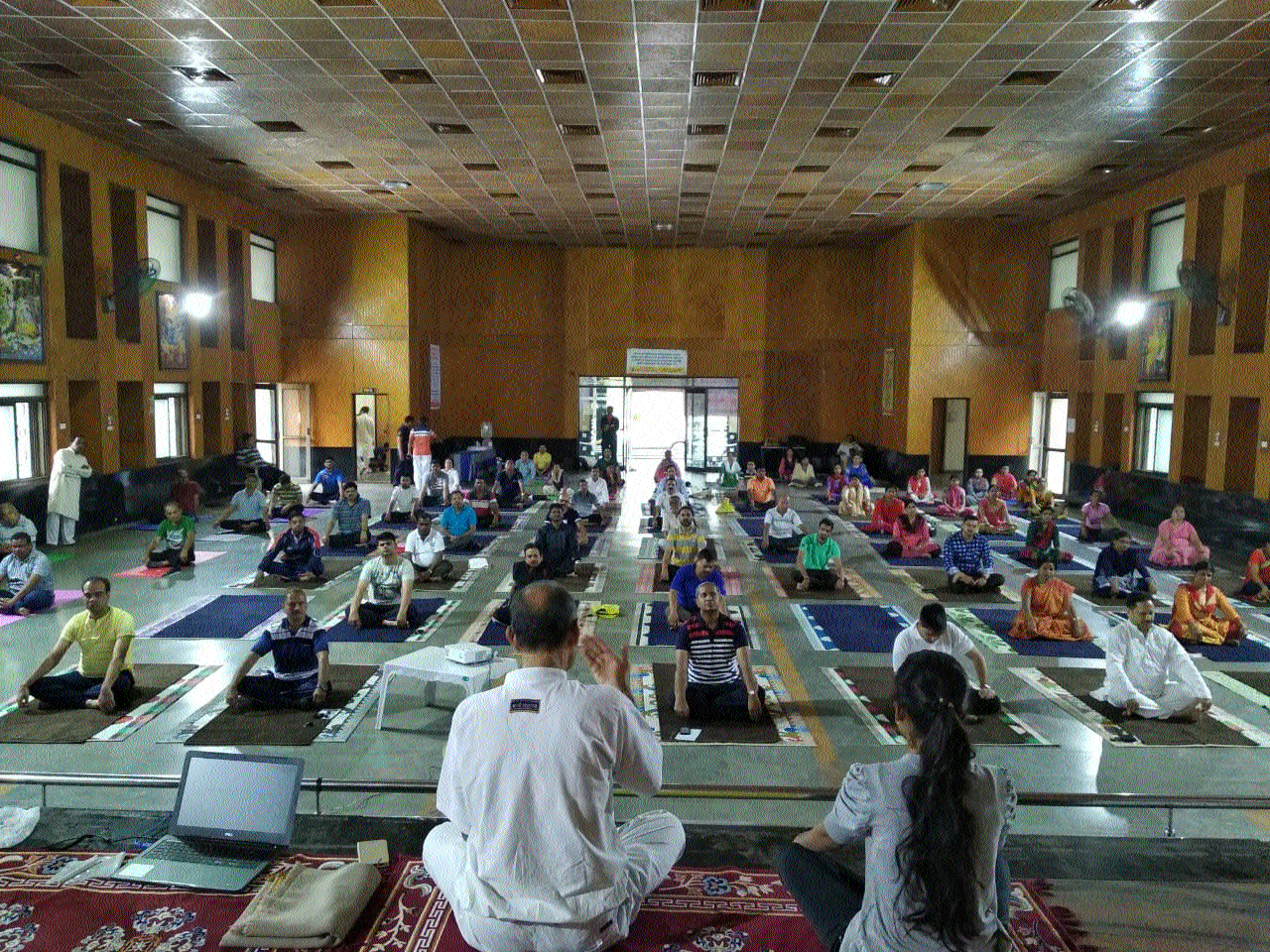 Yoga training camp of CGEWCC inaugurated