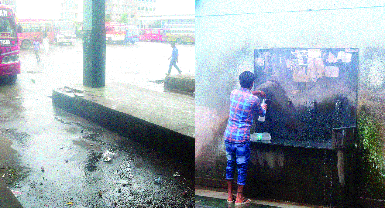 Dirty surroundings pose problem for commuters at ISBT