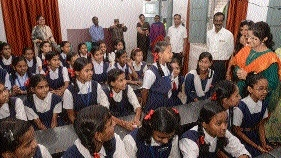 Collector Bhardwaj visits Beoharbag School
