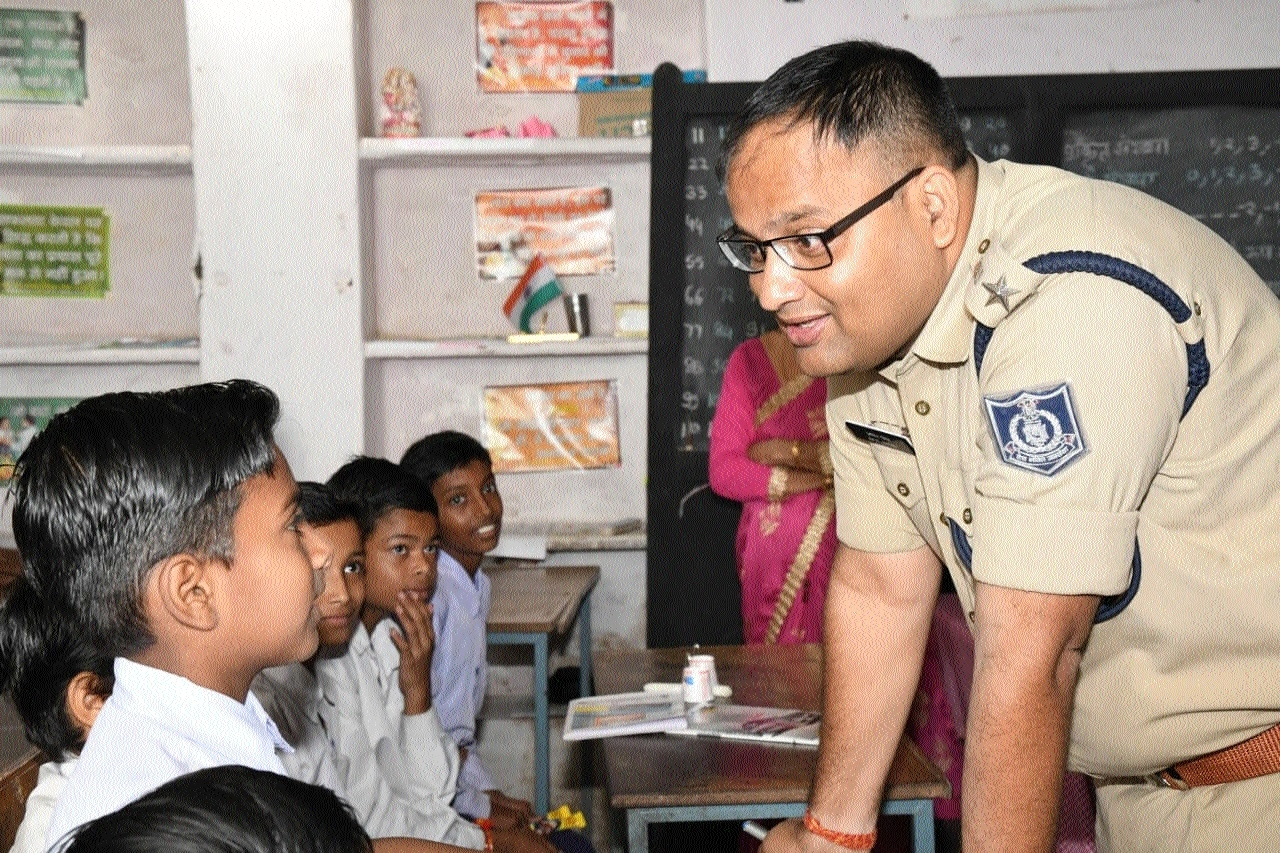 SP Singh visits Government School, Police Line