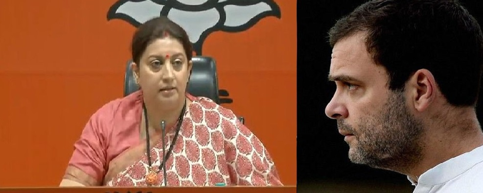Smriti slams Rahul for opposing move to reopen I-T cases