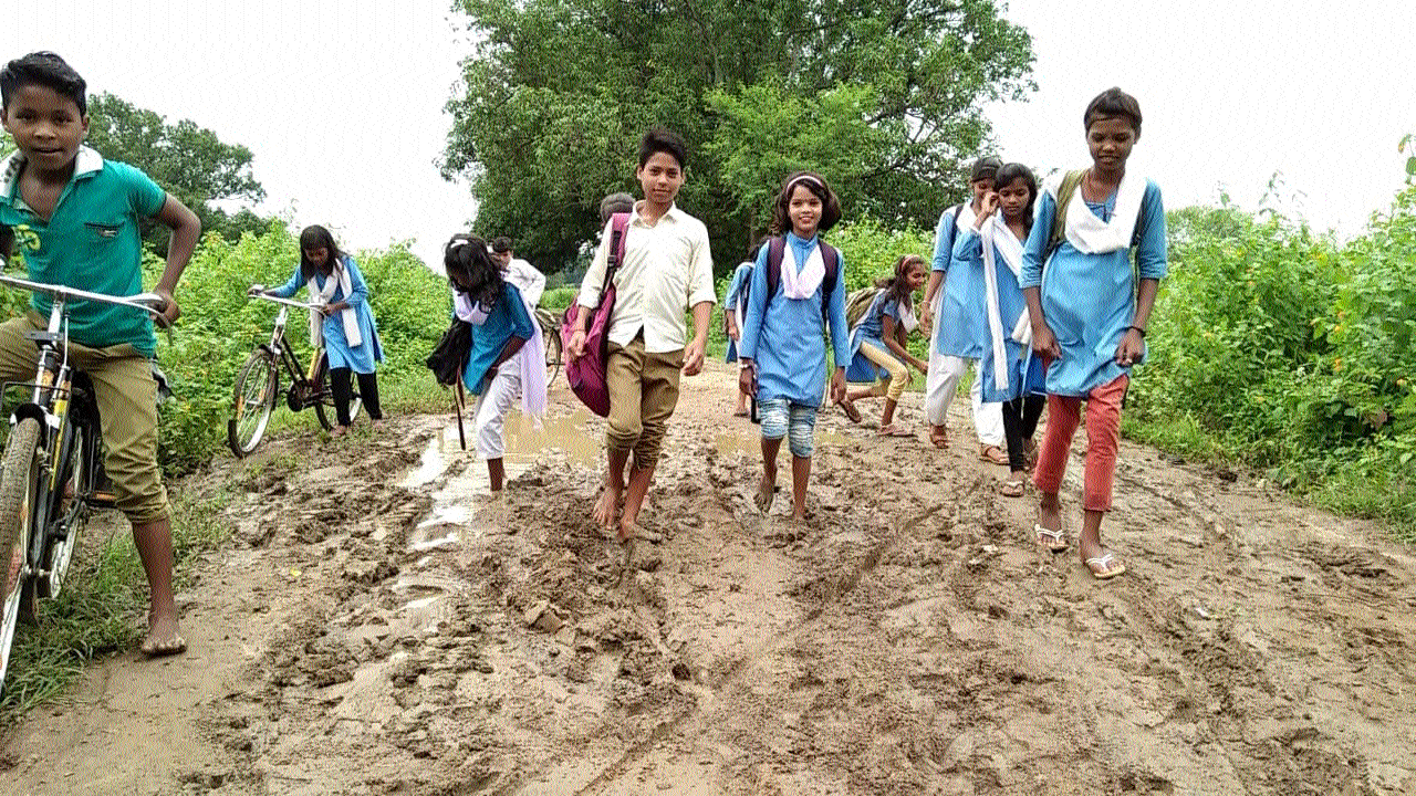 Dhankatta residents stuck with mud road