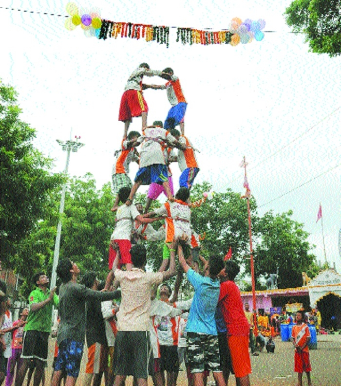 Govindas of Sonzari Nagar ready for 'Dahi Handi'