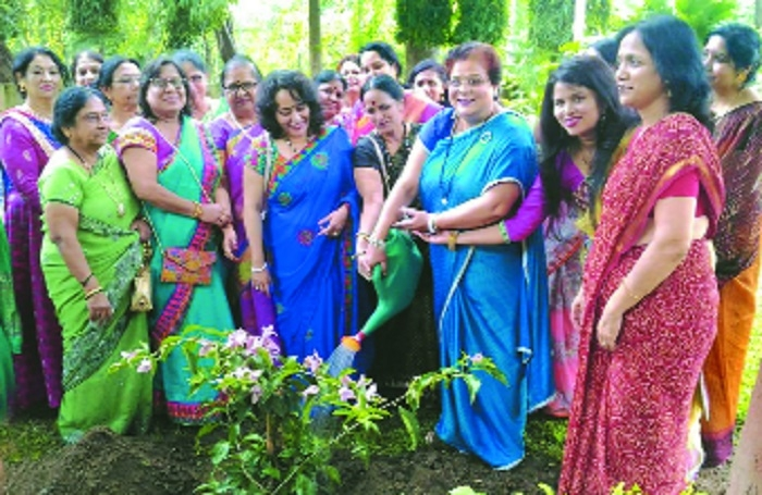 MOIL Eves Club members plant saplings in 'Shravan'