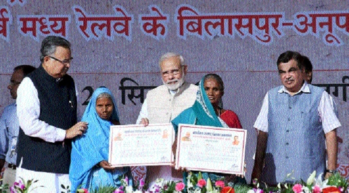 PM dedicates road, rail projects worth crores