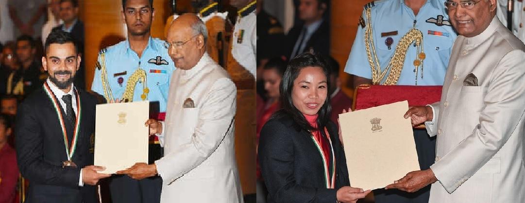 Virat Kohli, Mirabai Chanu bask in Khel Ratna glory