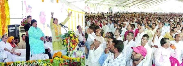 CM performs bhoomipujan of Narmada-Kshipra Project