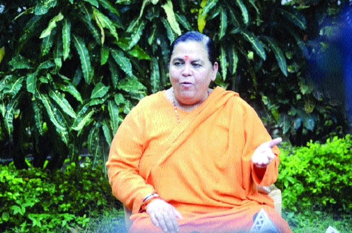 Ram temple, a matter of faith, says Uma Bharti