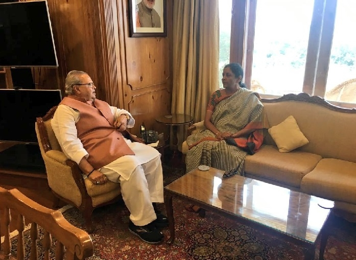 Sitharaman discusses J&K security issues with Governor