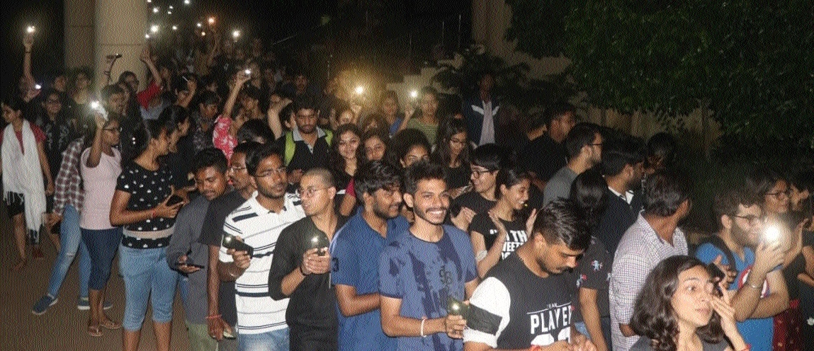 HNLU students get support of JNU, other law varsities