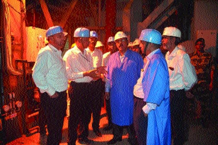 SAIL Chairman Chaudhary visits BSP