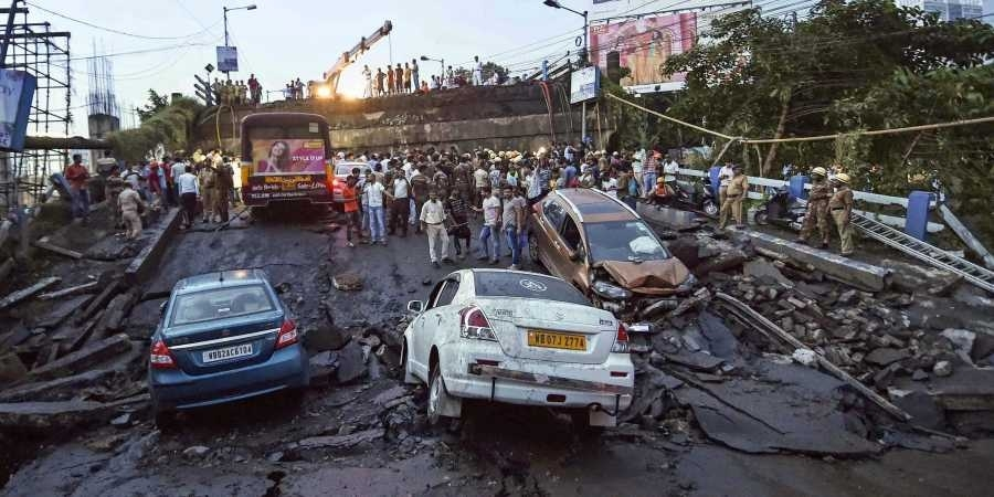 5 killed as portion of bridge collapses in Kolkata