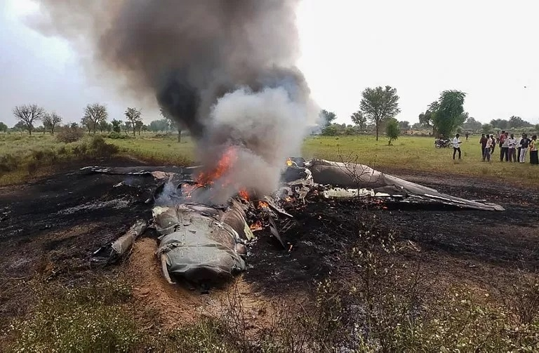 IAF's MiG-27 fighter jet crashes near Jodhpur, pilot ejects safely