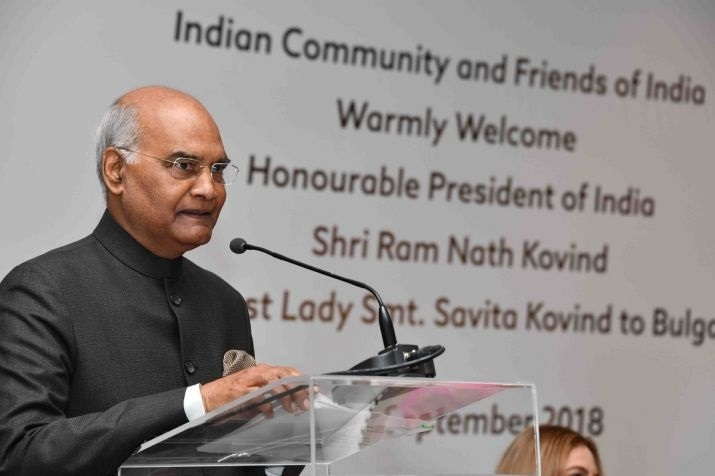 Kovind arrives in Bulgaria, meets Bulgarian President