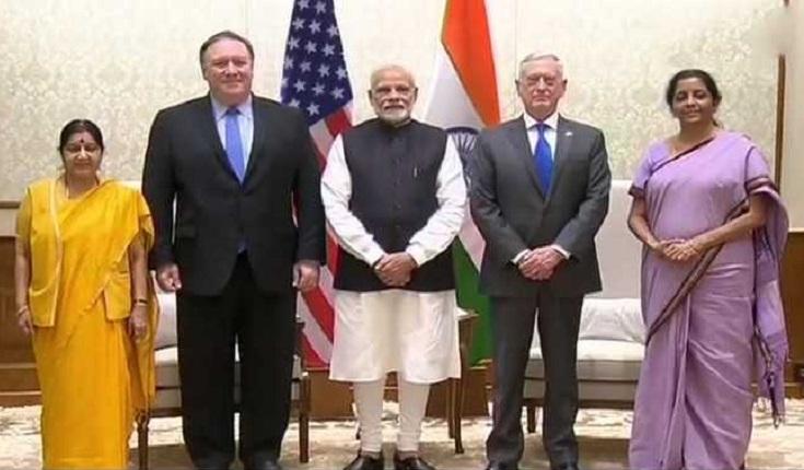 Pompeo, Mattis brief Modi on 2+2 dialogue