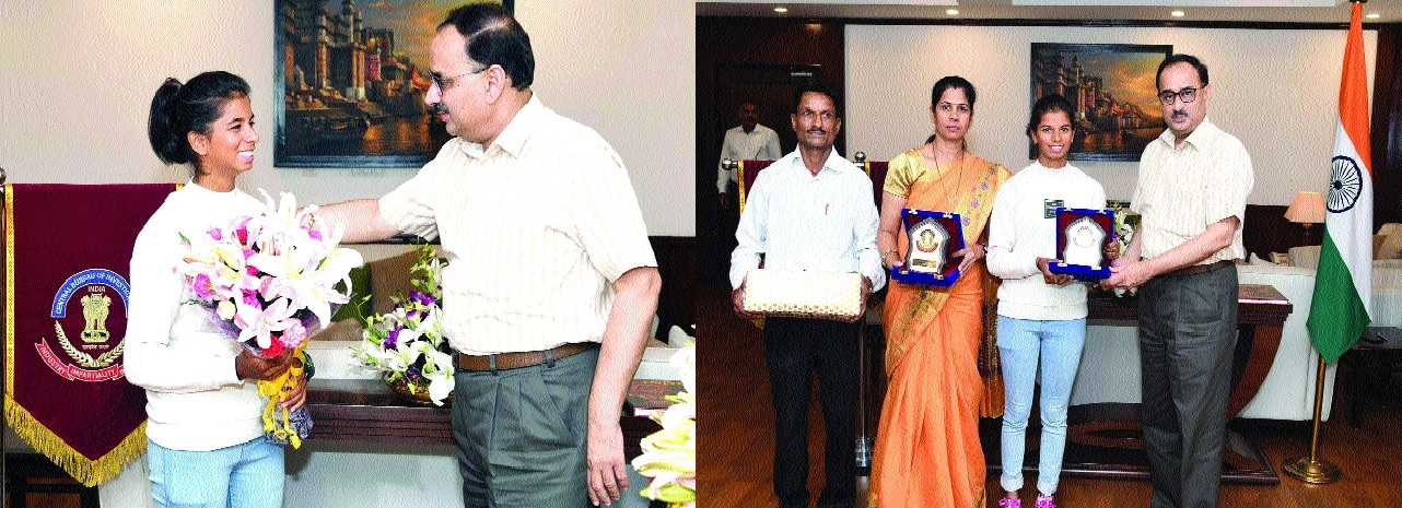 CBI Director fetes Asian Games medalist Harshita