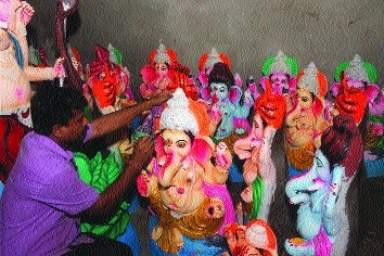 High demand for eco-friendly Ganesha idols