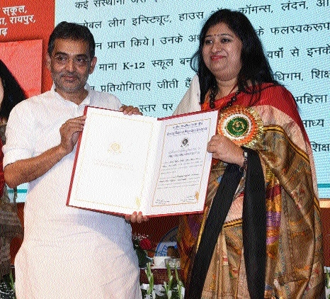 Priyanka Tripathi honoured with coveted CBSE Teacher's Award