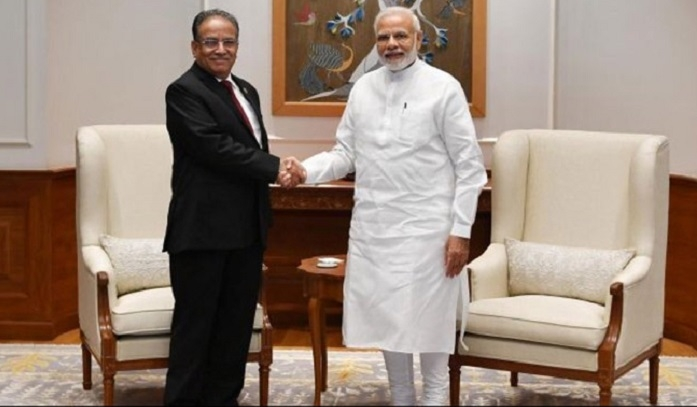 Modi, Prachanda discuss progress in India-Nepal ties, other issues