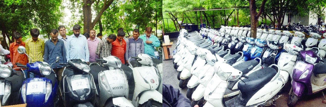 60 two-wheelers worth Rs 40L seized from gang of vehicle-lifters