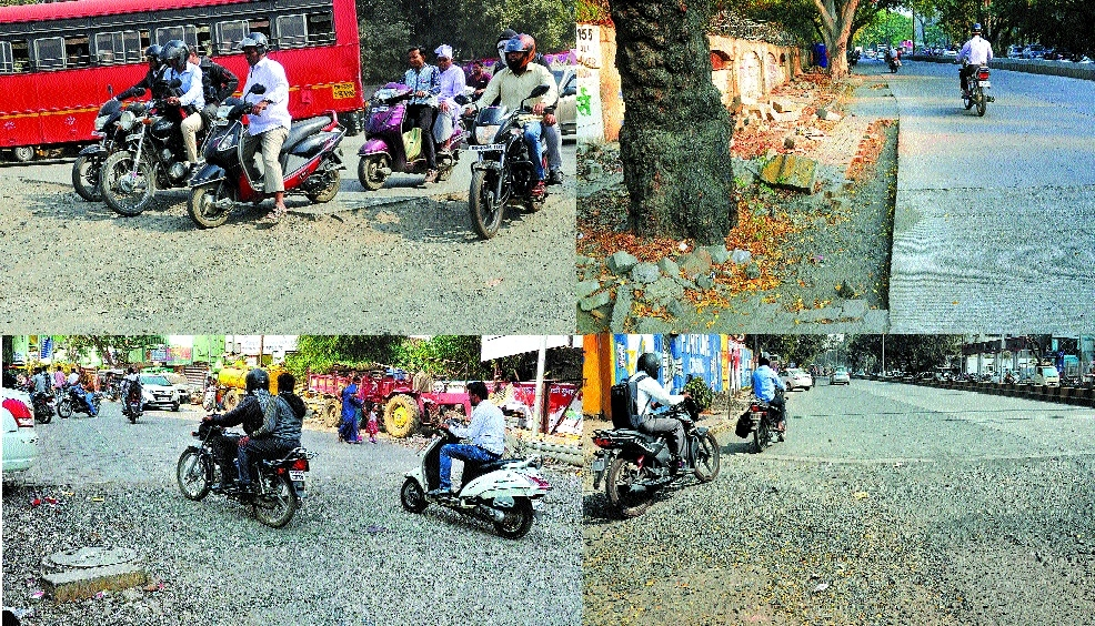 NMC opens dangerous incomplete cement roads for traffic