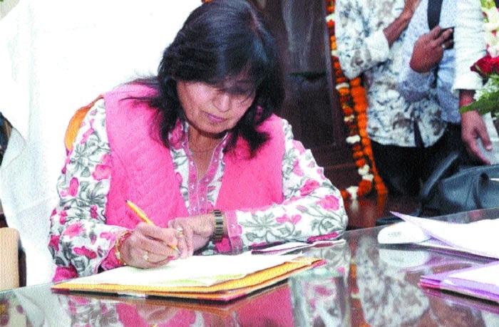 Culture, Medical Education Minister Dr Vijaylaxmi Sadho assumes charge