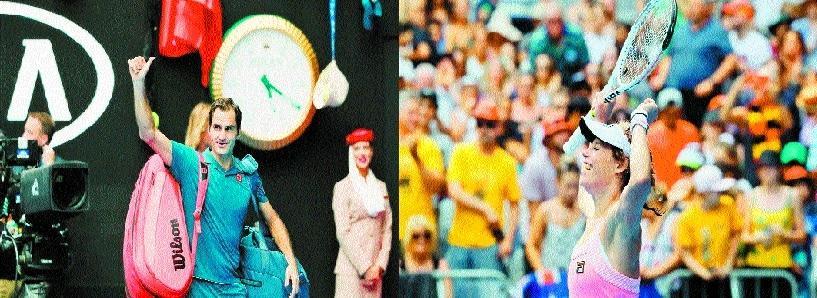 Federer on track as Sharapova sets up Wozniacki showdown