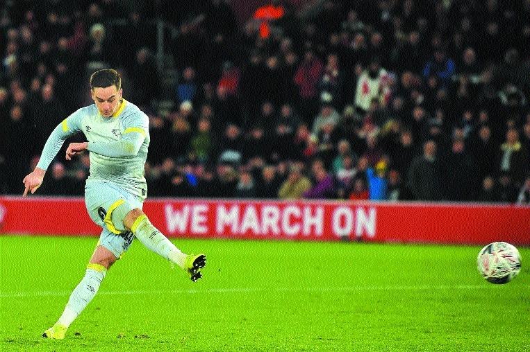Derby dump Southampton