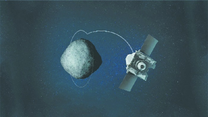 NASA spacecraft orbits around asteroid Bennu