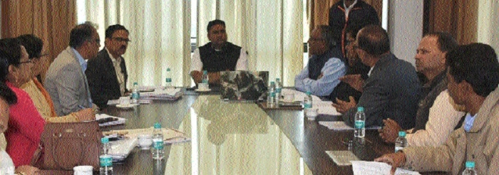 Minister Patel chairs meeting of officials