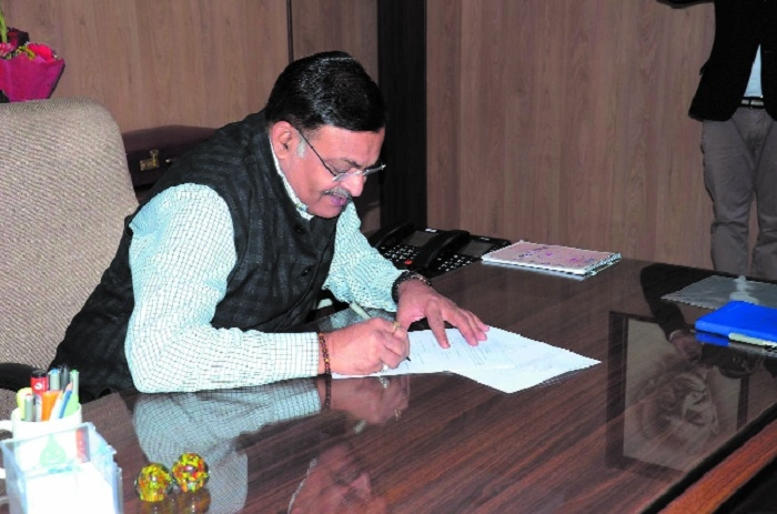 B P Singh takes charge as MP Election Commissioner