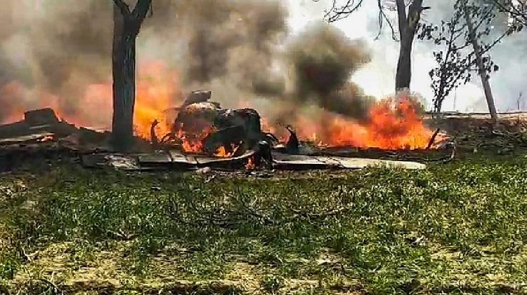 IAF jet crashes in UP, pilot safe