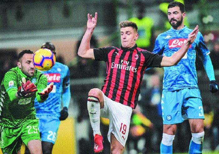 Piatek puts Milan in Coppa Italia semis