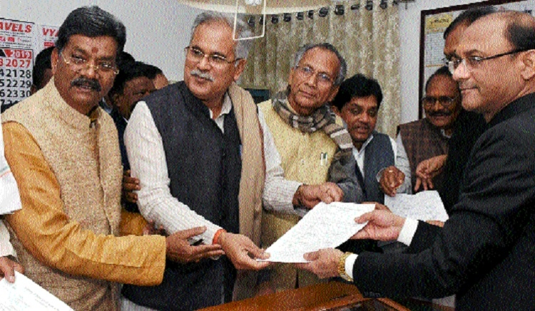Dr Charan Das Mahant files nomination for post of Speaker