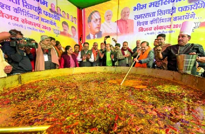 Eyeing world record, 5,000 kg 'khichdi' cooked