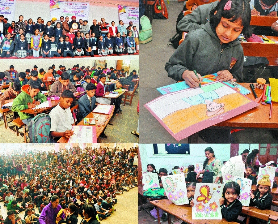 Colourful creativity blooms at mega drawing contest by The Hitavada Twinkle Club, SFS School Old Boys' Assn
