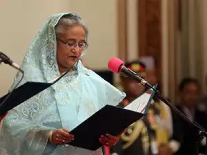 Hasina takes oath as B'desh PM for 4th term