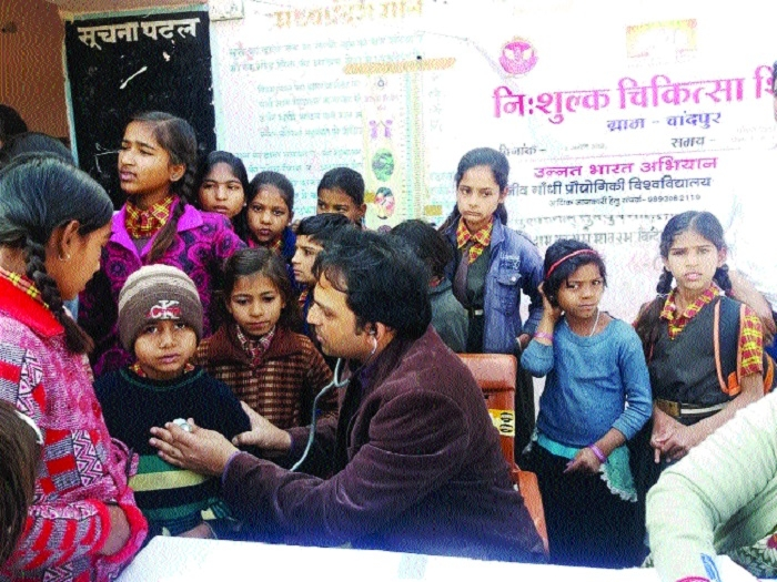 RGPV organises health camp in village Chandpur