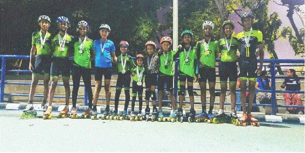 14 skaters of Vijay Academy win 29 medals in State C'ship